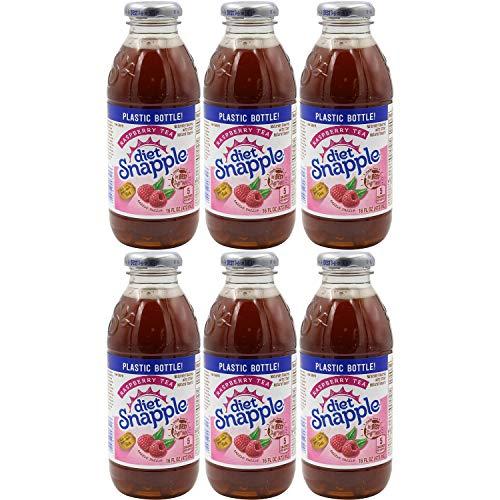 Snapple Diet Raspberry Iced Tea, 16oz Bottle (Pack of 6, Total of 96 Fl Oz)