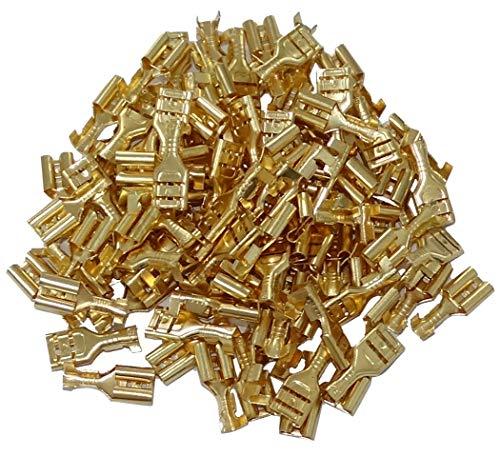 AERZETIX: 100 X Kabelschuhe flach 6,3 mm 1-2,5 mm2 C41299