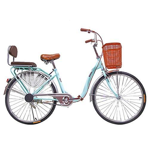 XBSLJ Bicicletas de Carretera, Bicicleta Ligero Adulto Ciudad Ciudad Estudiante Viajero Coche 26 Pulgada Velocidad única