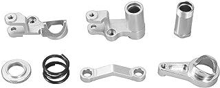 RC Car Steering Servo Saver Complete Set, Aluminium Alloy RC Steering Servo Saver Complete for Traxxas Slash 4X4 1/10 Scale RC Truck (Silver)