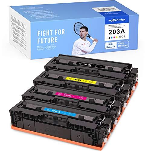 MyCartridge kompatibel HP 203A CF540A CF541A CF542A CF543A Toner fur HP Color Laserjet Pro MFP M281fdw M281fdn M280nwHP Color Laserjet Pro M254nw M254dw SchwarzCyanMagentaGelb