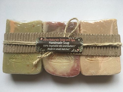 Pirin Naturals Handmade soap Trio'Fruity' Scent -'Exotic Mango, Citrus Celebration, Blue Raspberry'