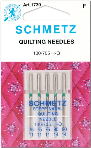 Euro-Notions Quilt Machine Needles-3-75, 2-90 5/Pkg