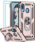 LeYi Funda Samsung Galaxy A40 con [2-Unidades] Cristal Vidrio Templado,Armor Carcasa con 360 Grados...