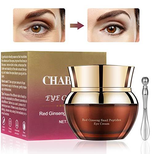 Crema Contorno de Ojos, Crema de Ojos de Caracol, Crema Antiarrugas, Antiojeras Mujer -Contiene Glicerina Importada, Hialuronato de Sodio (25g)