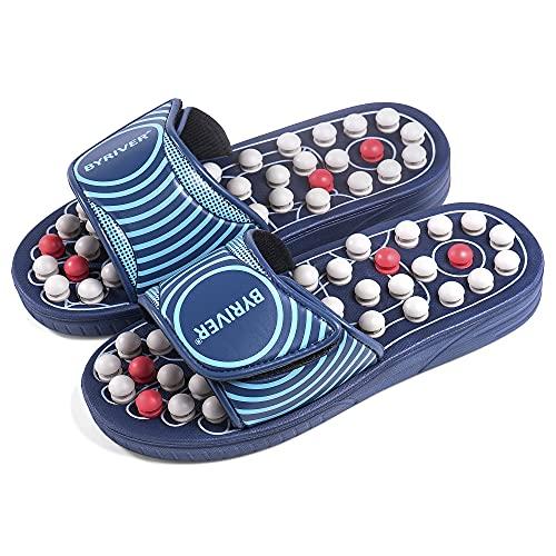 BYRIVER Estimulación Masaje Zapatillas Sandalias Zapatos, Masajeador de pies, Alivio de la neuropatía, artritis, fascitis plantar, dolor, Regalo de salud para mamá papá (05S)