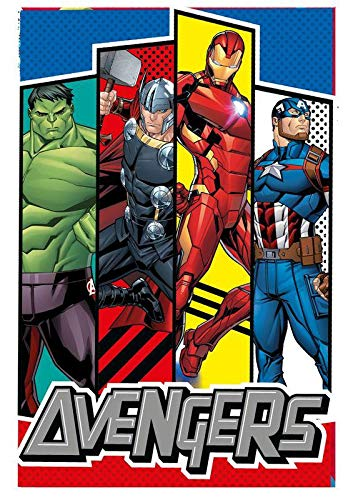 Marvel Polar de Avengers Referencia KD Mantas para Cama Colchas y cubrecamas Textiles del hogar Unisex Adulto, Multicolor (Multicolor), única