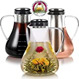 Teabloom Large Stovetop Safe Glass Teapot + Kettle + Pitcher (50 OZ / 1.5 L / 6 CUPS) – Hot or...