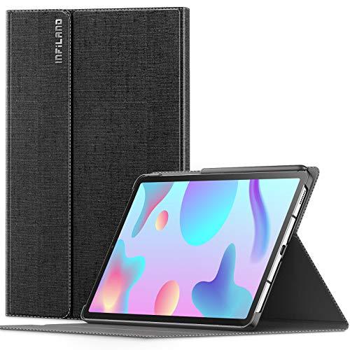 INFILAND Custodia per Samsung Galaxy Tab S6 Lite 10,4 2020, Supporto Anteriore Custodia Cover Compatible con Samsung Galaxy Tab S6 Lite 10,4 Pollice (P610/P615) 2020,Nero