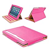 """MOFRED® Pink & Tan Apple iPad Air 2 (Launched 2014) Leather Case-Voted #1 Best iPad Case by""""The Daily Telegraph"""" (iPad Models A1566 A1567)"""