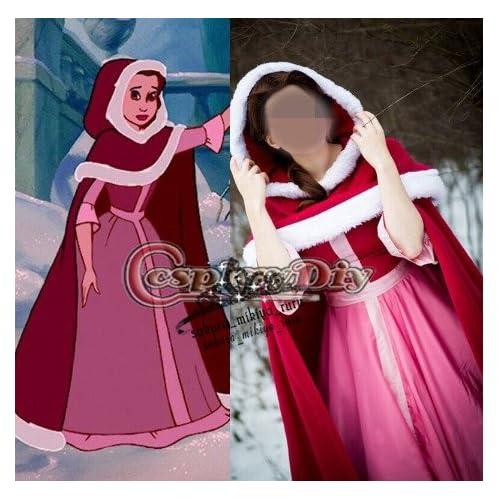 a563ab0664d27 美女と野獣美人赤頭巾プリンセスドレスコスプレ衣装 オーダーサイズ可能 クリスマス、ハロウィン