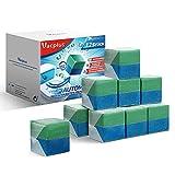 Vacplus WC Reiniger Duo-Aktiv Reinigungswürfel für Wasserkästen, 12 Stück, extra stark, verhindert Kalk & Schmutz