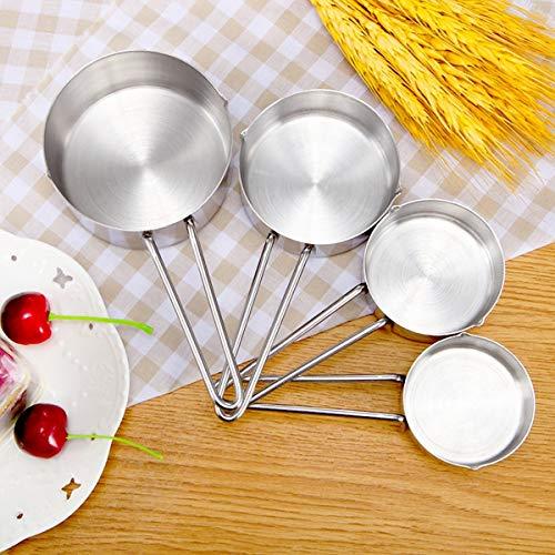 Jinxuny maatbekers, roestvrij staal, maatlepel, poeder, koffie, mes, keuken, bakken en gereedschap kit voor bakken en koken