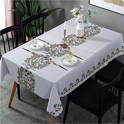 XTUK Limpie el Mantel de plástico Limpio Decoración del hogar Vinilo Impermeable Cubierta de Mesa a Prueba de Aceite Decoración de Buffet Cubierta de Mesa a Prueba de Polvo Hotel 135 * 180cm
