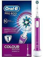 Oral-B PRO600 CrossAction Oplaadbare Elektrische Tandenborstel Purple edition