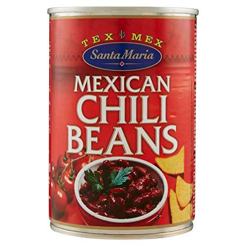 Chili Bohnen | Santa Maria | Tex Mex Mexikanische Chili Beans Medium | Gesamtgewicht 410 Gramm