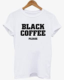 Black coffee please t-shirt celine paris swag celfie coco unisex new - printed high fashion inspired custom t shirt