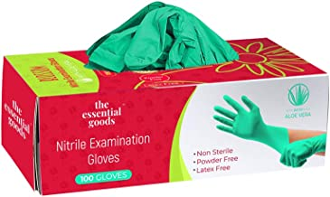 The Essential Goods Disposable Nitrile Gloves | 100 Count | Non Latex Powder Free