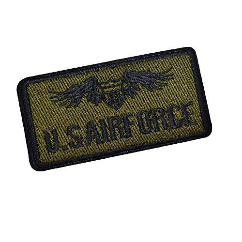 Patch armée Militaire US AIR Force, écusson thermocollant armée de l'air Etats-Unis USA pour customisation de vêtements et Accessoires, 8,7 cm x 4,5 cm