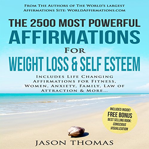 The 2500 Most Powerful Affirmations for Weight Loss & Self Esteem audiobook cover art