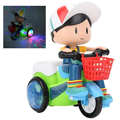 Zerodis Triciclo eléctrico de Juguete, Bicicleta giratoria de 360 Grados, vehículos para niños pequeños Juguete con luz Musical para niños y niñas de 2 3 4 5 6 7 años de Edad(#1)