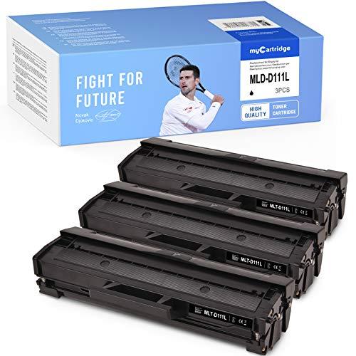 MyCartridge 3 tóneres negros compatibles con Samsung MLT D111L para Samsung Xpress M2070FW M2078W M2020 M2022 M2026 M2070 M2020W M2022W M2026W