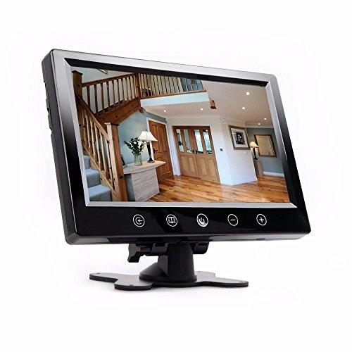 23 cm 9 Zoll Inch TFT LCD Überwachungsmonitor für Live Überwachung und für Überwachungskamera Überwachungssystem mit Zwei Videoeingängen YMPA LCM-ST9UE