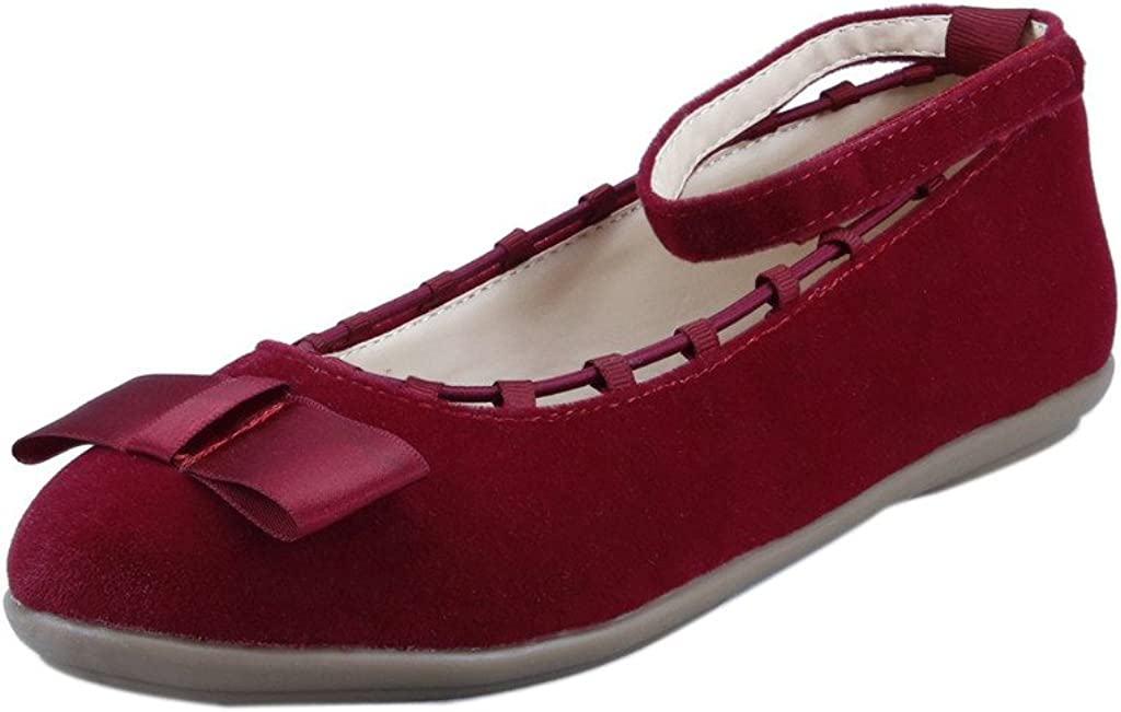 The Doll Maker Suede Ankle Wrap Flat