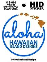 HID ハワイアン ステッカー デカール(aloha-ハワイ州) ハワイアン雑貨 ハワイ 雑貨 お土産 (ブルー)