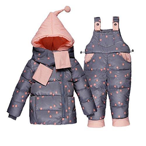 XIRUI 2017 nowa zimowa ciepła dla niemowląt kurtka puchowa zestaw ubrań dla dzieci kurtka z kapturem z szalikiem dzieci chłopcy dziewczęta płaszcz wzór zestaw garnitur
