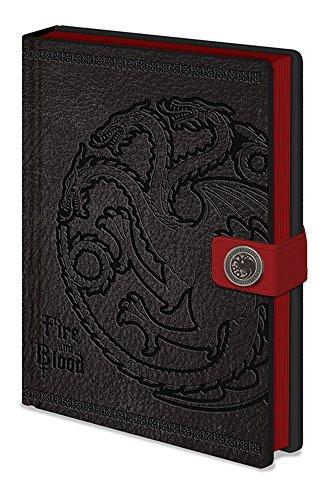 empireposter Game of Thrones - Targaryen - Offizielles Lizenz-Notizbuch im handlichen A5 Format - Größe 15x21 cm