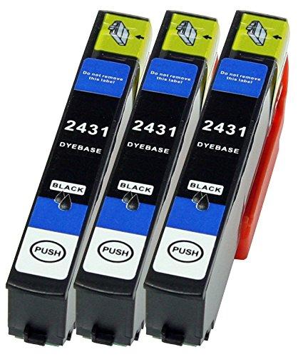 3 Druckerpatronen XL nur Schwarz ersetzen Epson T2431 geeignet z.B. für Epson Expression Photo XP 55 , Photo XP-750 , Photo XP-760 , Photo XP-850 , XP-860 , Photo XP-950 , Photo XP-960