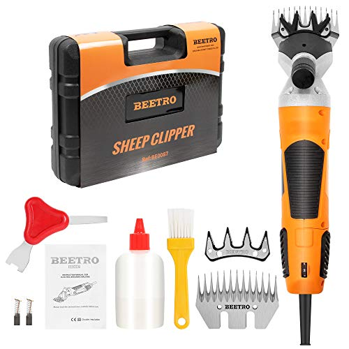 BEETRO 550W Electric Professional Sheep Shears, Animal Grooming Clippers for Sheep Alpacas Goats and More, 6 Speeds Heavy Duty Farm Livestock Haircut, with an Extra Set of Shearing Blades