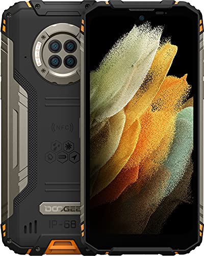 DOOGEE S96 Pro Rugged Smartphone, 20MP IR Visione Notturna, 48MP Quad Fotocamera, IP68 Cellulare Antiurto, 8GB+128GB, 6.2 Pollici HD+, 6350mAh Batteria, 4G Dual SIM Android 10 Cellulari Offerte