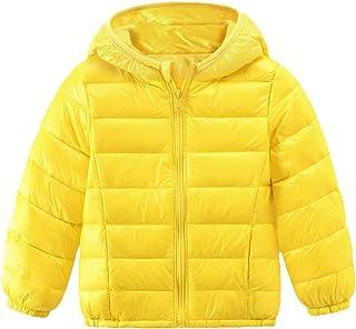 DOLYKUI 0-7 Years Kids Warm Outwear, Toddler Baby Girls Boys Winter Solid Windproof Coat Hooded Warm Outwear Jacket