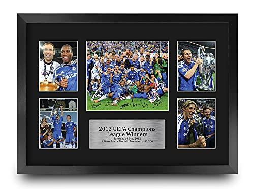 HWC Tradin FR A3 Champions League Winners 2012 Gedrukte Memorabilia Gesigneerde Handtekening Foto Display Voor…