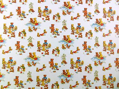 Melody Jane Puppenhaus Miniatur Druck Kinderzimmer Tapete Teddybären Picnic