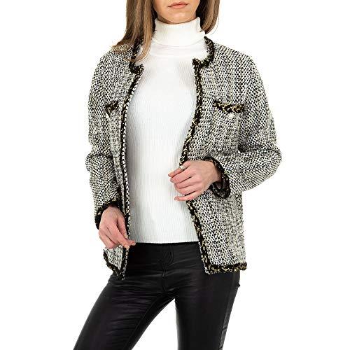 Ital Design Damen Boucle Jacke JCL Gr. S Schwarz