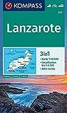 241 Lanzarote 1: 50.000: 3in1 Wanderkarte 1:50000 mit Aktiv Guide und Detailkarten. Fahrradfahren. Autokarte.