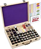 Soligt 72 Bottle Wooden Essential Oils Storage Box with Handle, 64 Slot for 5-15ml Essential Oils & 8 Slot for 10ml Roller Bottles