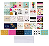 72-Pack All Occasion Mini Greeting Cards - Small Blank Note Cards for Birthday, Wedding, Baby Shower, Flower Bouquets, Gift Tags, Bulk Variety Pack with 72 Envelopes and 72 Stickers, 2.5 x 2.5 Inches