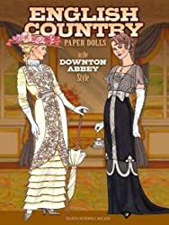 english country downton abbey style paperdolls for adults