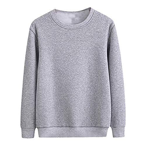Fantastic Deal! Coupondeal New Style For Men Fashionable Solid Color Round Neck Long Sleeve Hoodies ...