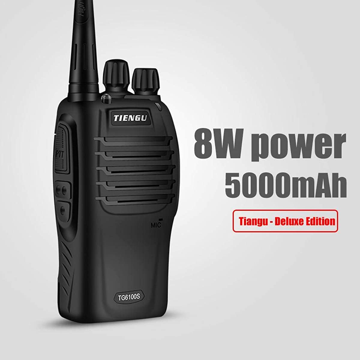 TOMOYOU Mini Walkie Talkie Civilian Walkie Talkie Professional Radio Rechargeable CTCSS for TIENGU TG600S Camping Hiking Playing Outdoor Game (Black)