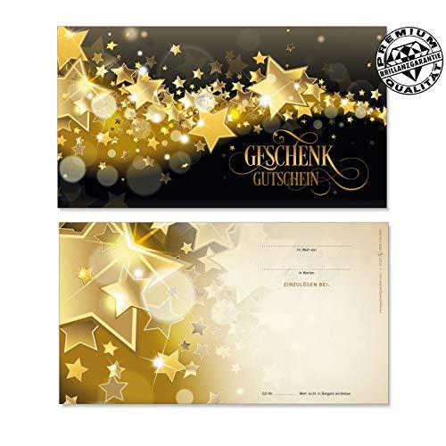 50 hochwertige Gutscheinkarten Geschenkgutscheine. Gutscheine für Weihnachten. Weihnachtsgutschein für Kunden. Vorderseite hochglänzend. X1227