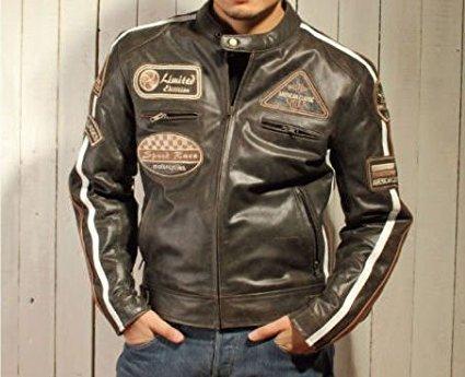 Herren – Motorradjacke aus Nappa Leder (L) - 6