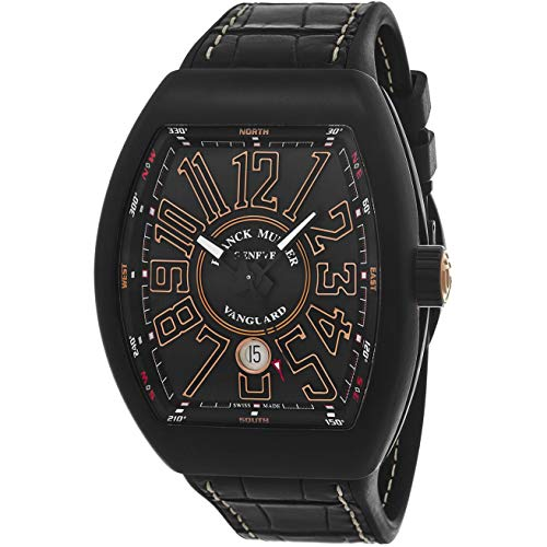 Franck Muller uomo Vanguard Black pelle Band orologio automatico...