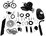Bicycle Motor KIT,Full Set 80CC Bicycle Engine KIT,2 Stroke Motorized Bike KIT,2-Stroke Petrol Engine Super Fuel-EFFICIENT Bike Engine KIT with 2L Oil Tank for 26' 28' Bike