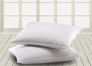 Schlafschön Magita - Juego de 2 Almohadas (100% algodón, 40 x 80 cm)