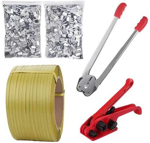 Pallet Packaging Strapping Banding Kit Tensioner Tool Sealer, 3200' Length x 1/2